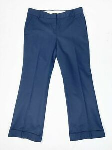 J. Crew Pants 10 City Fit Navy Blue Pockets Cuffed Trousers