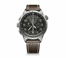 *BRAND NEW* Victorinox Swiss Army Men's Airboss Mechanical Leather Watch 241710