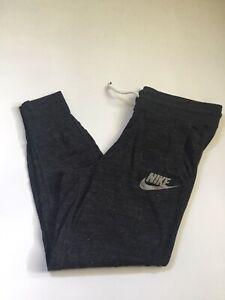 Nike Logo Gray Crop Joggers Women's Sweat Pants Sz S