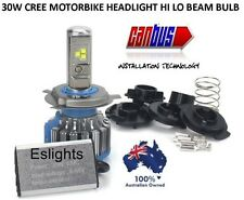 NEW 30W CREE LED BA20D H4 H6 HI LO BEAM MOTORBIKE HEADLIGHT BULB LAMP GLOBE