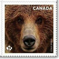 2019 Canada 📭 🐻 AMERICAN KERMODE BEAR 🐻🐻 MNH Single Stamp from Booklet 🐻📬