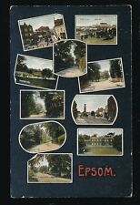 Surrey EPSOM M/view Used 1908 PPC