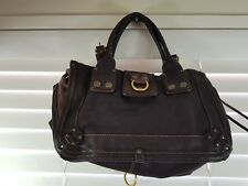 CHLOE womens brown Leather Ascot bag / Tote Handbag RRP$2200+ - Missing strap