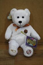 Holy Bears White Baseball God Bless Our Athletes Plush Bear New 2002 9""