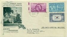 SCOTT # 927 WITH E-17/921 FDC, FLORIDA, ARTCRAFT CACHET, TYPED ADD., GREAT PRICE