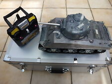 Mato 1/16 2.4GHz 100% All Metal RC M4 Sherman IR Tank TK22 + Smoke & Sound+ Case