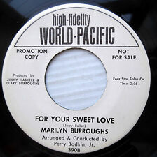 MARILYN BURROUGHS mod promo 45 FOR YOUR SWEET LOVE / STAINED GLASS WINDOWS F1851