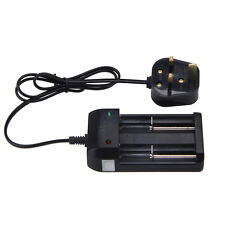 2 slotsUniversal Battery Charger 26650 18650 UK plug