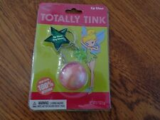 DISNEY Tinkerbell Keychain w Star Charm & Lip Gloss TOTALLY TINK