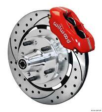 "Wilwood 78-88 Monte Carlo Front Disc Big Brake Kit 12.19"" Drilled Rotor Red"
