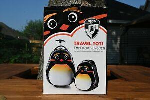Kids Penguin Luggage & Backpack 2 piece Set Heys Travel Tots good condition