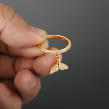 Gorgeous Fishtail Pendant Wedding Ring Yellow Gold Filled Engagement Jewelry Sz7
