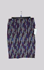 NWT LuRaRoe Cassie Skirt XL Blue Feathers  Jaquard