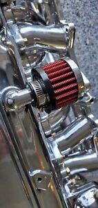 Datsun 510 620 240Z 260Z 280Z ZX Valve Cover Chrome K&N filter breather element