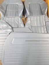 HZ SANDMAN FRONT SEAT COVERS DOOR TRIMS & CENTER ARM REST COVERS 23c LIGHT BLUE