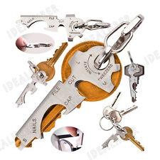 8 in1 EDC Stainless Bottle Opener Keychain Multi-function Key Clip Pocket Tool E