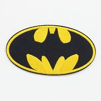 """1PCS Batman Logo Fabric Embroidered Iron/Sew On Patch for Clothes DIY 3.7""""X2.1"""""""