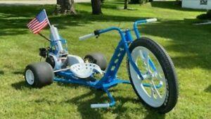 Drift trike frame bolt together kit fat tire