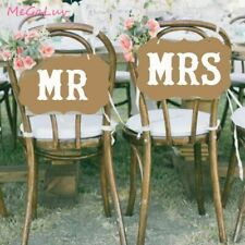 2pcs Mr&mrs Photo Props Wedding Decorations Table Chair Sign Bride To Be Party