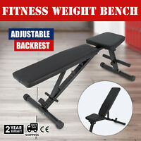 New Adjustable Sit Up AB Incline Bench Abdominal Board Flat Fly Weight Press Gym