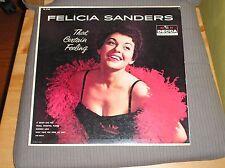 Felicia Sanders LP That Certain Feeling '58 Female Jazz Pop Vocals Decca Mono