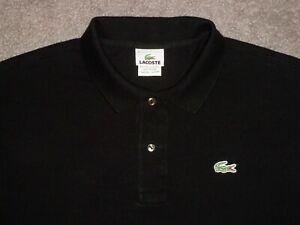 Men's LACOSTE Polo XL (Eur 7) BLACK w/Lacoste Logo ~ Peru