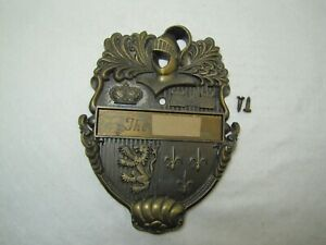 Vintage Coated Brass??  Door Knocker USED.