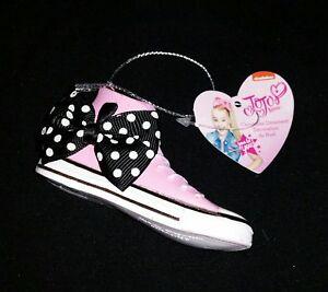 Nickelodeon JoJo SiwaHigh Top Converse Pink Sneakers w JoJo Fabric Bowornament