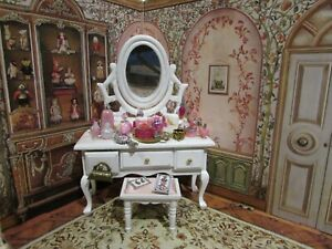"""DOLLHOUSE MINIATURE PERFUME COLLECTION -""""PINK CABBAGE ROSE""""-OOAK"""