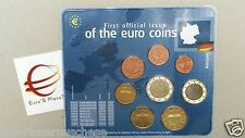 2002 zecca F 8 monete 3,88 euro Germania Allemagne Alemania Deutschland Germany