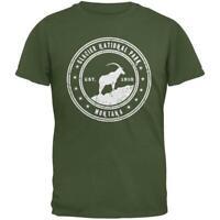 Glacier National Park Military Green Adult T-Shirt