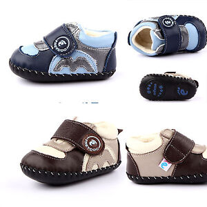 Freycoo Genuine Leather Soft Sole Kids Toddlers Boys Shoes 120mm 130mm 10-22mnth