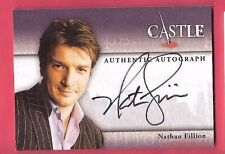 RICHARD CASTLE TV SHOW NATHAN FILLION CERTIFIED Autograph AUTO CARD FIREFLY