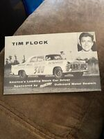 Tim Flock Hero Card NASCAR Vintage