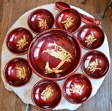 Japanese Lacquerware 11 Pc Salad Bowl Set SZK Japan