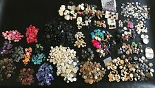 3+ lb lot of Vintage Sewing Buttons: Plastic, Sea Shell, Glass, Metal