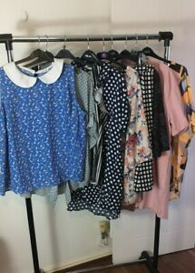 Womens Ladies Clothes Bundle Size 24 Playsuit Sweater Shirt Top Blouse Skirt KK5