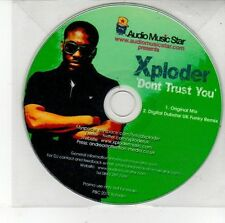 (DV344) Xploder, Don't Trust You - 2010 DJ CD