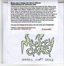 (AS352) Mickey Gang, Horses Can't Dance - DJ CD