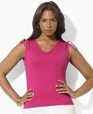 Lauren by Ralph Roseanna Drawstring Top Women's XL $40 NWT