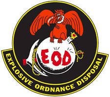 Marine Explosive Ordnance Disposal (EOD) Logo Decal