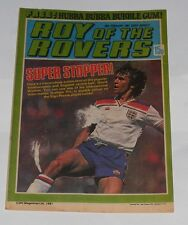 ROY OF THE ROVERS COMIC 28TH FEBRUARY 1981 GRAHAM RIX OF ENGLAND