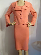 NWT ST JOHN KNIT SIZE 10  WOMENS ORANGE WATERMELON DRESS SUIT JACKET SANTANA