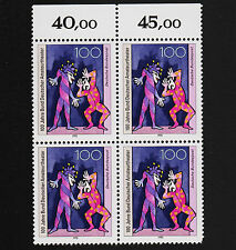 1992 germany Set Sc#1758 Mi#1626 Margin Block of 4  MNH