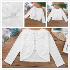 Girls Spring autumn sweaters Cotton thin section coat 95-128CM Swan pattern