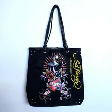 Ed Hardy Christian Audigier Tote Bag Love Kills Polyester Shell Fabric Lining