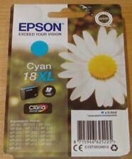 GENUINE EPSON T1812 XL Cyan (blue) cartridge ORIGINAL 18XL DAISY vac' sealed ink