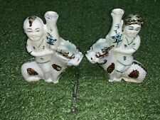 Very Rare Chinese Antique Porcelain Twins Vases Prosperity Pair