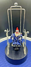 Vintage Perpetual Motion Clown Swing Desk Toy with Battery