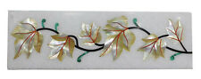 "4""x12"" Marble Floor Wall Tile Mother of pearl Leaf Mosaic Art Handmade Deco H577"